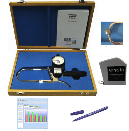 Harpenden Skinfold Caliper PRO Kit w/ Software, Tape Meas...