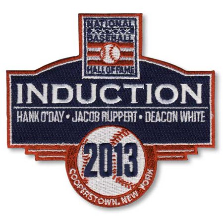 2013 National Baseball Hall Of Fame Induction Patch (O'Day, Ruppert, (Halloween Hall O' Fame)