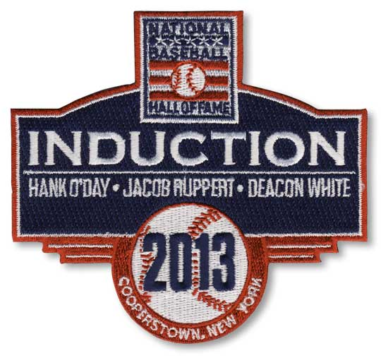 2013 National Baseball Hall Of Fame Induction Patch (O'Day, Ruppert, White)