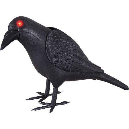 Animated Crow Halloween Decoration