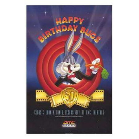 Posterazzi MOV209457 Amc Theatres Bugs Bunnys 50th Movie Poster - 11 x 17 in. Bugs Bunny Animation Art