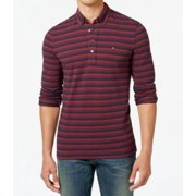 Tommy Hilfiger NEW Red Mens Size 2XL Pique Polo Rugby Striped Shirt