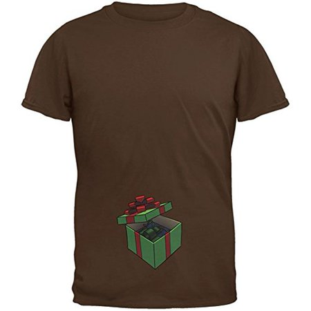 Box In A Box Christmas Gift Brown Adult T-Shirt - X-Large ()