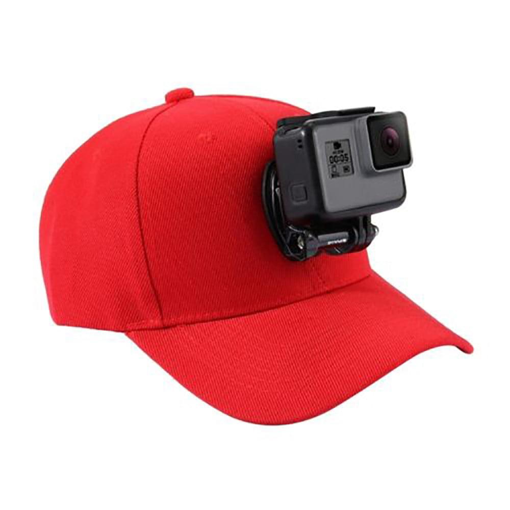Popular Baseball Cap for GoPro Action Cameras Holder Hat with J-Hook Buckle Mount Screw