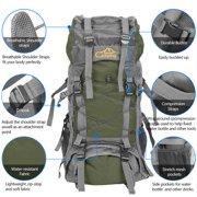 LYUMO Free Knight SA008 60L Outdoor Waterproof Hiking Camping Backpack Green