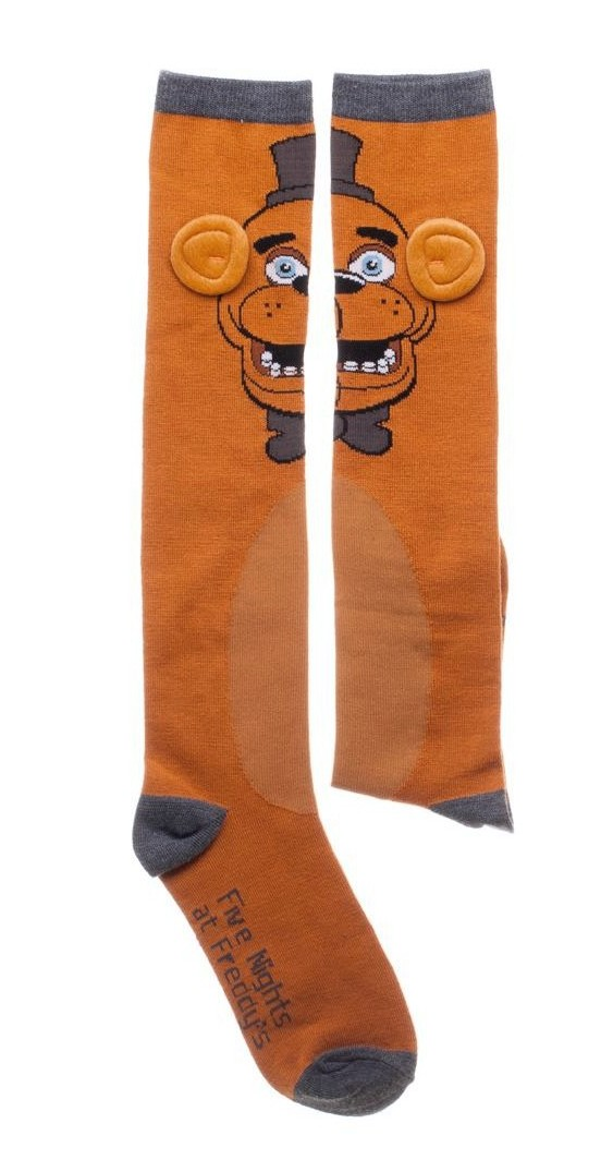 5f61211e697 Five Nights at Freddy s Fazbear Knee High Socks Scary Video Game Adult 5-10