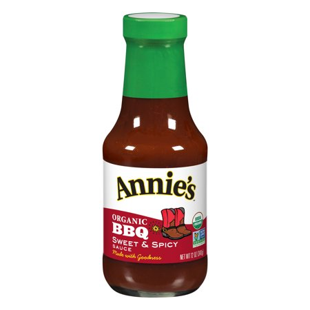 (2 Pack) Annie's Organic Sweet & Spicy BBQ Sauce, 12