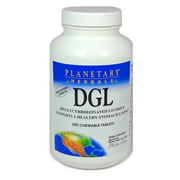 Planetary herbals dgl chewable tablets, 200 ct
