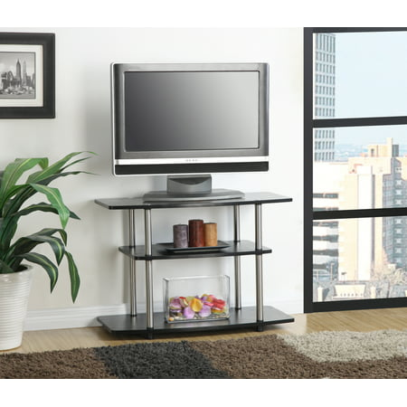 Convenience Concepts Designs2Go No Tools 3 Tier TV Stand, Multiple Colors Corner Tv Cabinet White