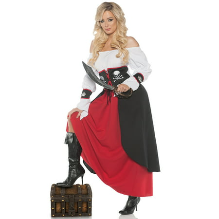 Lady Pirate Womens Adult Buccaneer Maiden Halloween Costume (Woman Pirate Costumes)