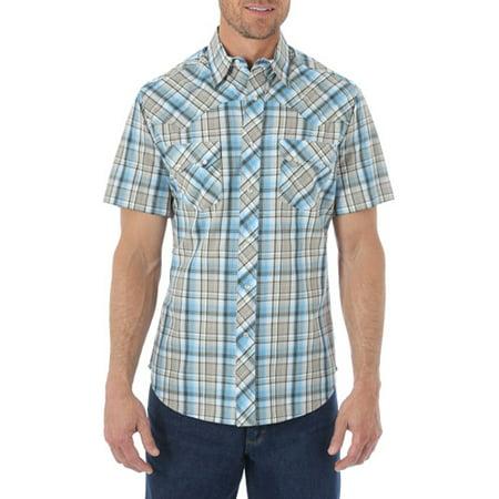 66af3a95ecd Wrangler - Mens  Short Sleeve Western Shirt - Walmart.com