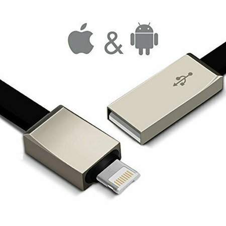 2-in-1 Integrated One Plug Lightning/Micro USB Sturdy Charging and Data Transmitting Cable for iOS & Android Devices - Intergrated Usb