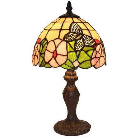 Amora Lighting AM042TL08 Tiffany Style Floral Mini Table Lamp 15 (Tiffany Website With Prices)