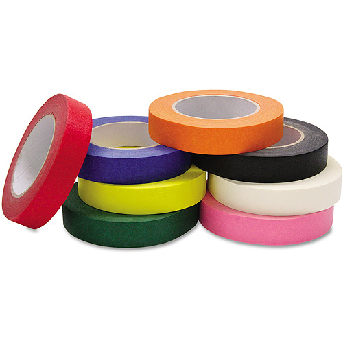 "Chenille Kraft Colored Masking Tape Classroom Pack, 1"" x 60 yards, Assorted, 8 Rolls/Pack"