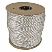 Orion Ropeworks 811-530080-00600 Twisted Nylon Rope  .25 in. X 600 in.  Reel Solid Twisted White