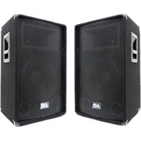 """SA-15T - Pair of 15"""" PA / DJ / Band Speaker Cabinets with Titanium Horns"""