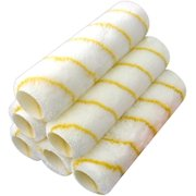 Pro Grade - Paint Roller Covers - 9 inch x 1/2 inch Microfiber Nap – 6 Pack - Interior and Exterior House Painting Supplies