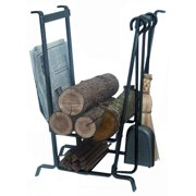Enclume Design Complete Fire Center Log Rack with Tools
