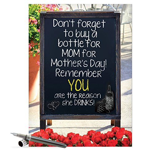 J7319 Jumbo Funny Mother's Day Card: Mothers Love, Extra Large Greeting Card With Envelope - NobleWorks