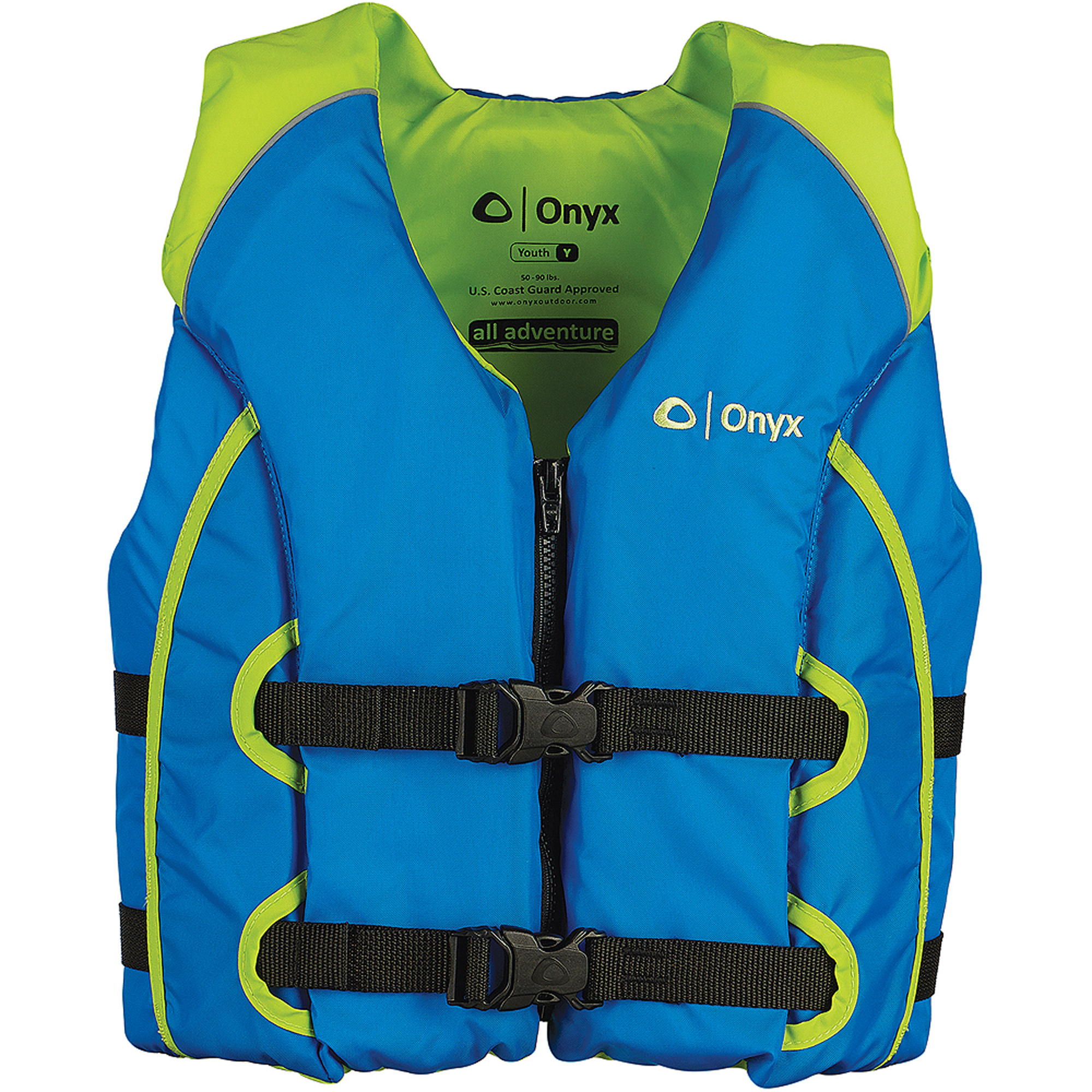 Onyx All Adventure Youth Vest - Green/Blue - Walmart.com