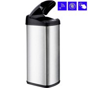 BestOffice 13 Gallon Touch-Free Sensor Automatic Stainless-Steel Trash Can Kitchen 13G