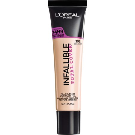 L'Oreal Paris Infallible Total Cover Foundation, Creamy (L Oreal Infallible Pro Matte Foundation Classic Tan)