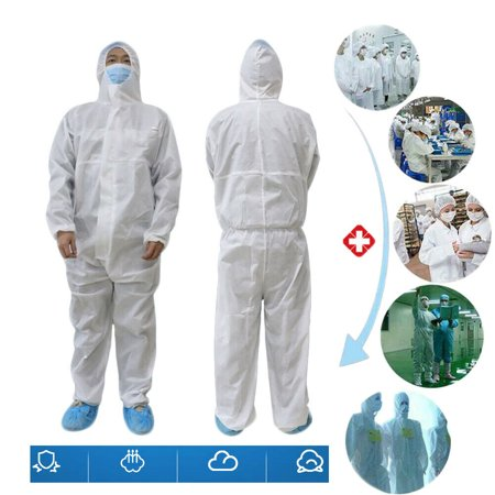 SUNSIOM Disposable Protective Clothing Overall Coveralls Antivirus Workshop Safety Suit