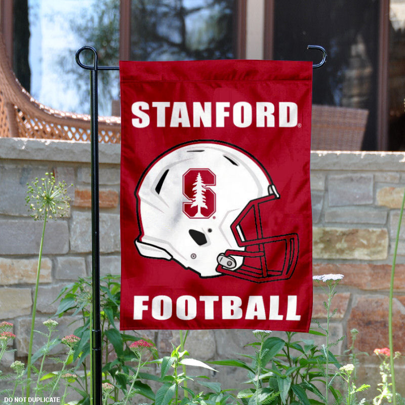 "Stanford Cardinal Football Helmet 13"" x 18"" College Garden Flag"