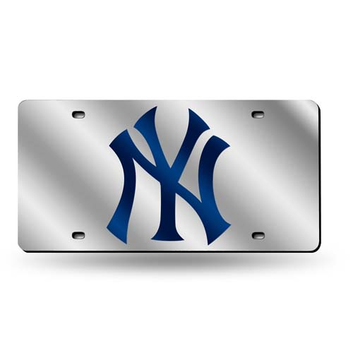 New York Yankees Official MLB 12 inch x 6 inch  Plastic License Plate by Rico Industries