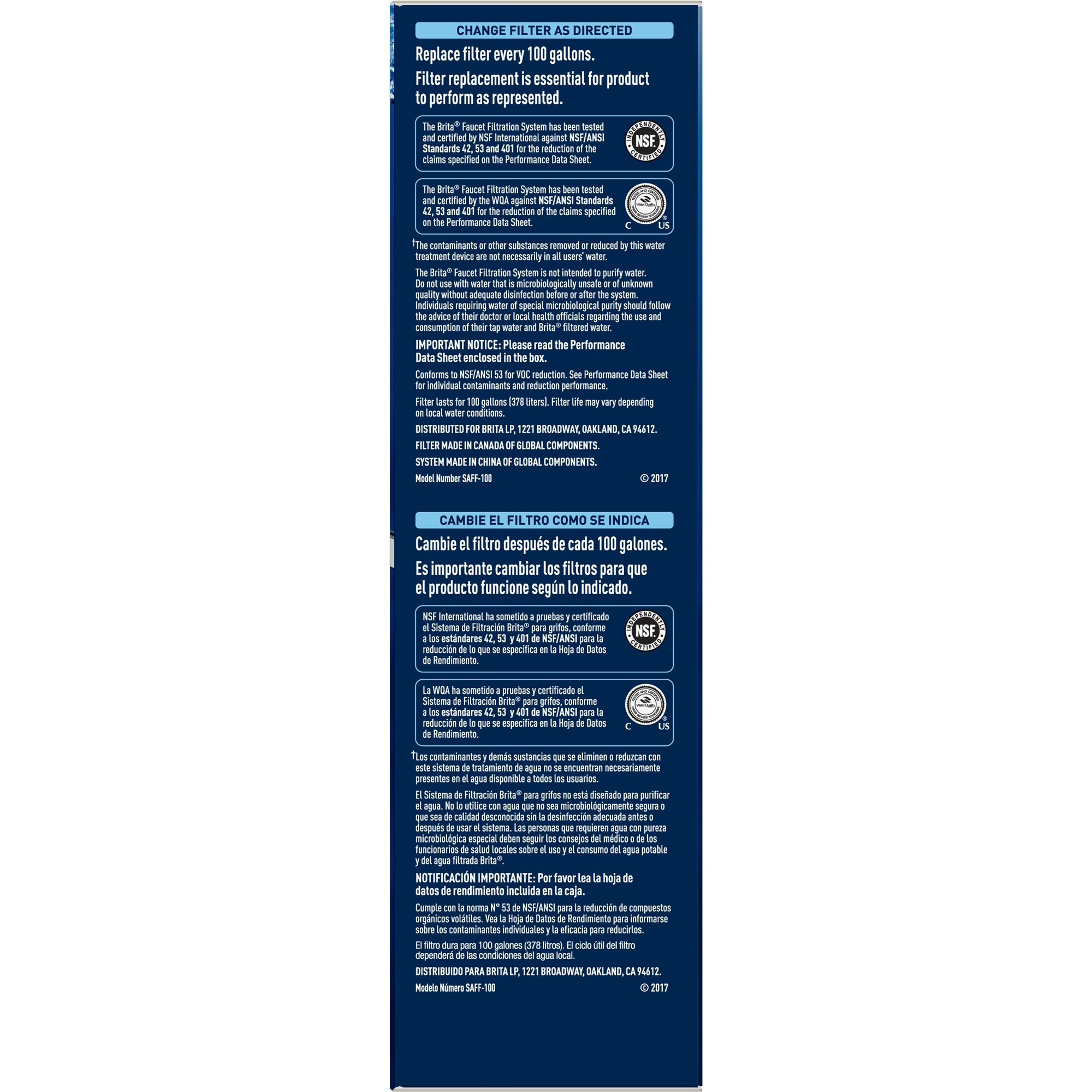 Brita On Tap White Water Faucet Filtration System (Fits Standard ...