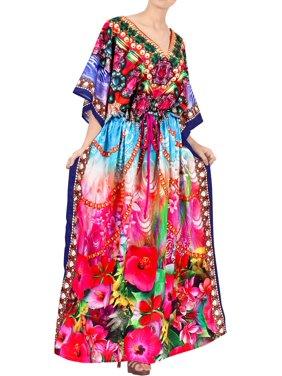 Womens Summer Comfortable 3D Evening Wear Maternity Gown Kaftan Maxi Caftan Ladies Casual Wear