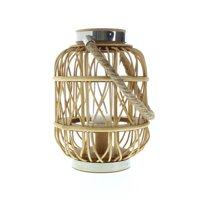 Wooden Lantern Candle Holder, Hanging Rustic Candle Lanterns Decorative Outdoor