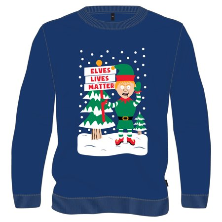 Elves Lives Matter Ugly Christmas Sweatshirt