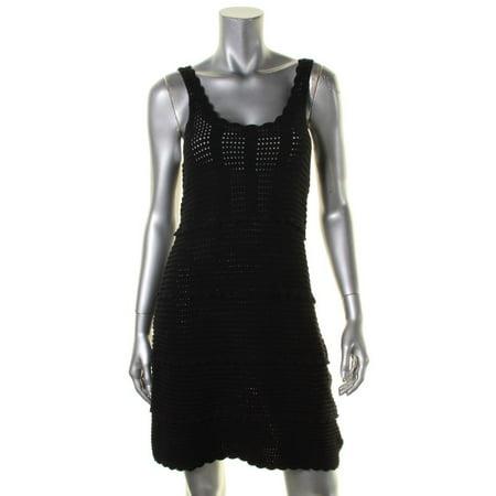 Ella Moss Womens Tiered Sleeveless Casual Dress ()