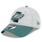Philadelphia Eagles New Era Youth 2021 NFL Training Camp Official 9FORTY Adjustable Hat - Gray/Midnight Green - OSFA