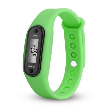 Tuscom Run Step Watch Bracelet Pedometer Calorie Counter Digital LCD Walking Distance ()
