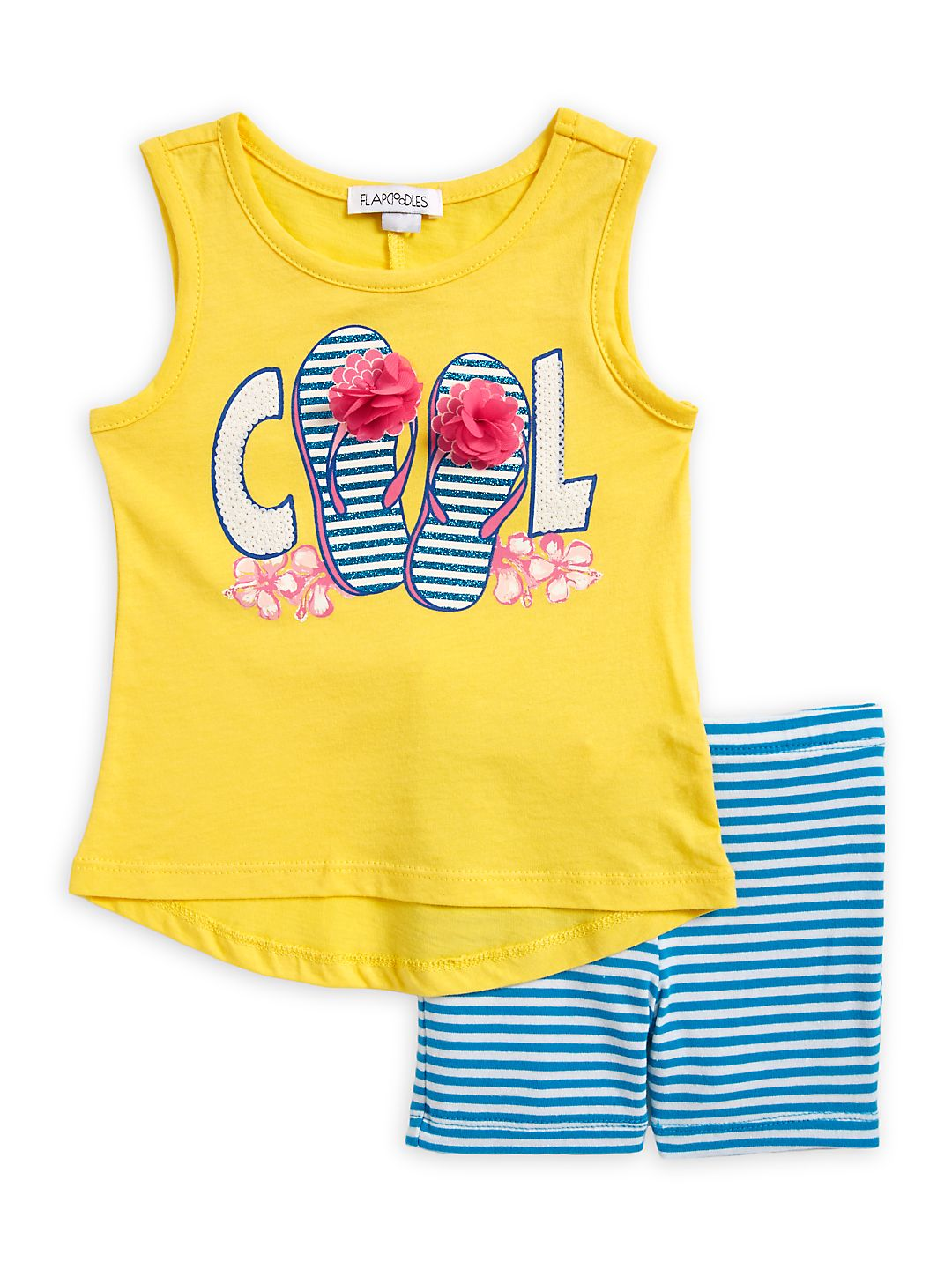 Little Girl's Two-Piece Tank Top And Shorts