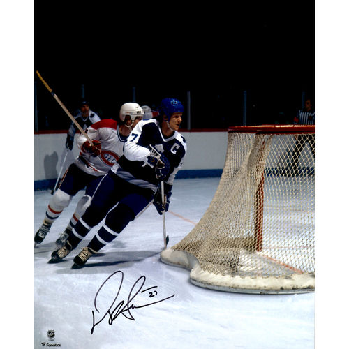 """Darryl Sittler Toronto Maple Leafs Autographed 16"""" x 20"""" Blue Jersey Skating Photograph No Size by Fanatics Authentic"""