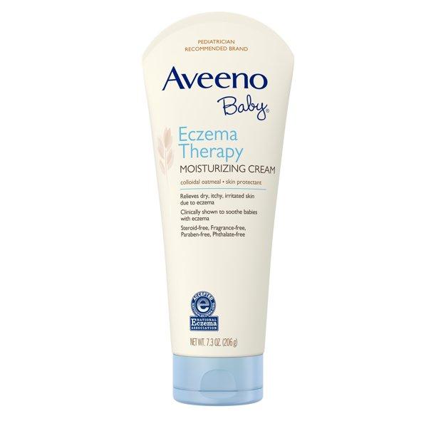 Aveeno Baby Eczema Therapy Moisturizing Cream with Natural Oatmeal, 7.3 oz