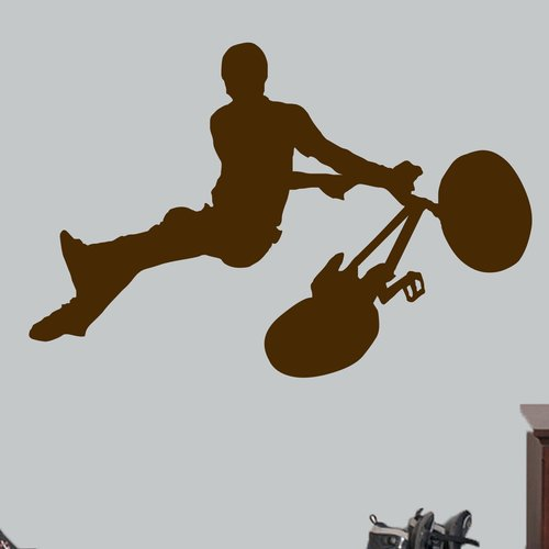 Zoomie Kids Hartzell BMX Bicycle Wall Decal