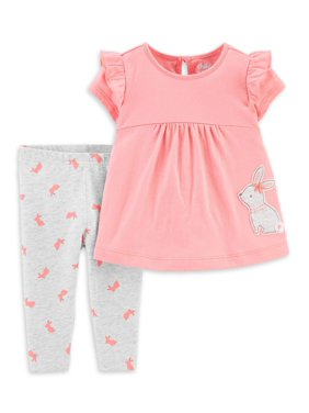 Child of Mine by Carter's Short Sleeve Shirt and Pant Set, 2pc set