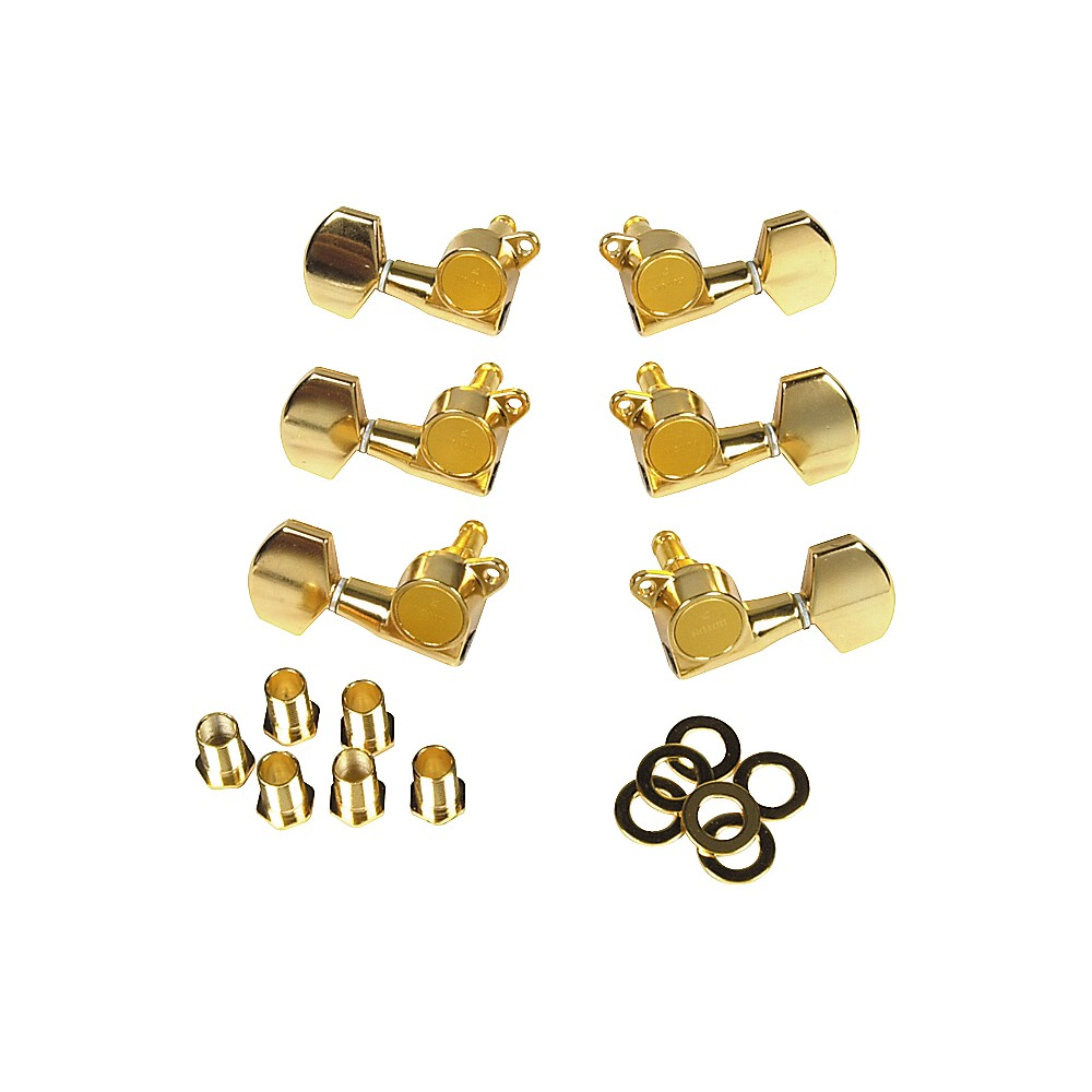 Gotoh MLB3-G 3-On-A-Side Locking Tuners 6-Pack Gold by Gotoh