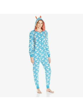 Evelyn Micro Fleece Onesie | Women's Hooded Fleece Non-Footed Onesie Loungewear Pajamas
