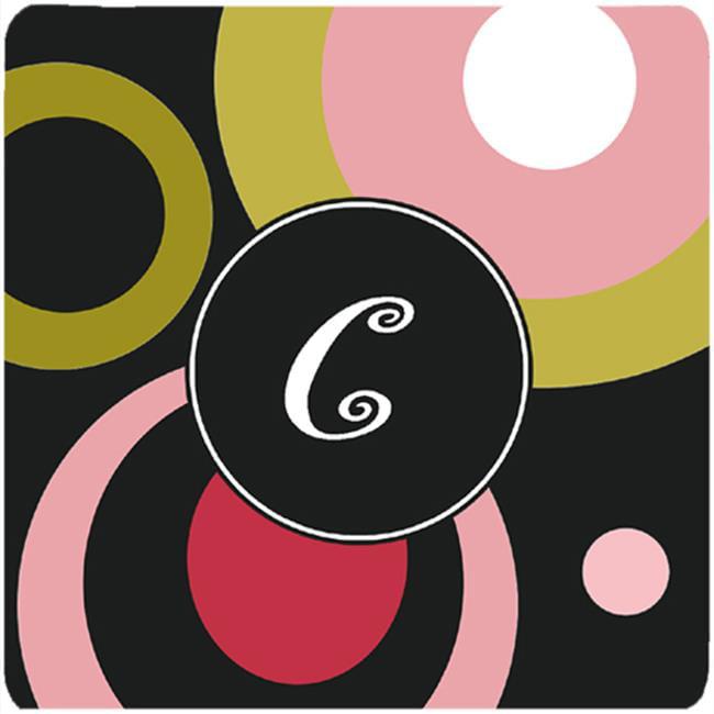 Monogram - Retro In Black Foam Coasters - Set Of 4, 3.5 x 3.5 In. - image 1 de 1