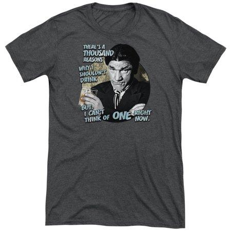 Three Stooges Drink Mens Tri-Blend Short Sleeve Shirt