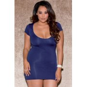 Navy Queen Sweet Thing Mini Dress iCollection 32014X Navy One Size Fits All -, One Size Fits All - Queen