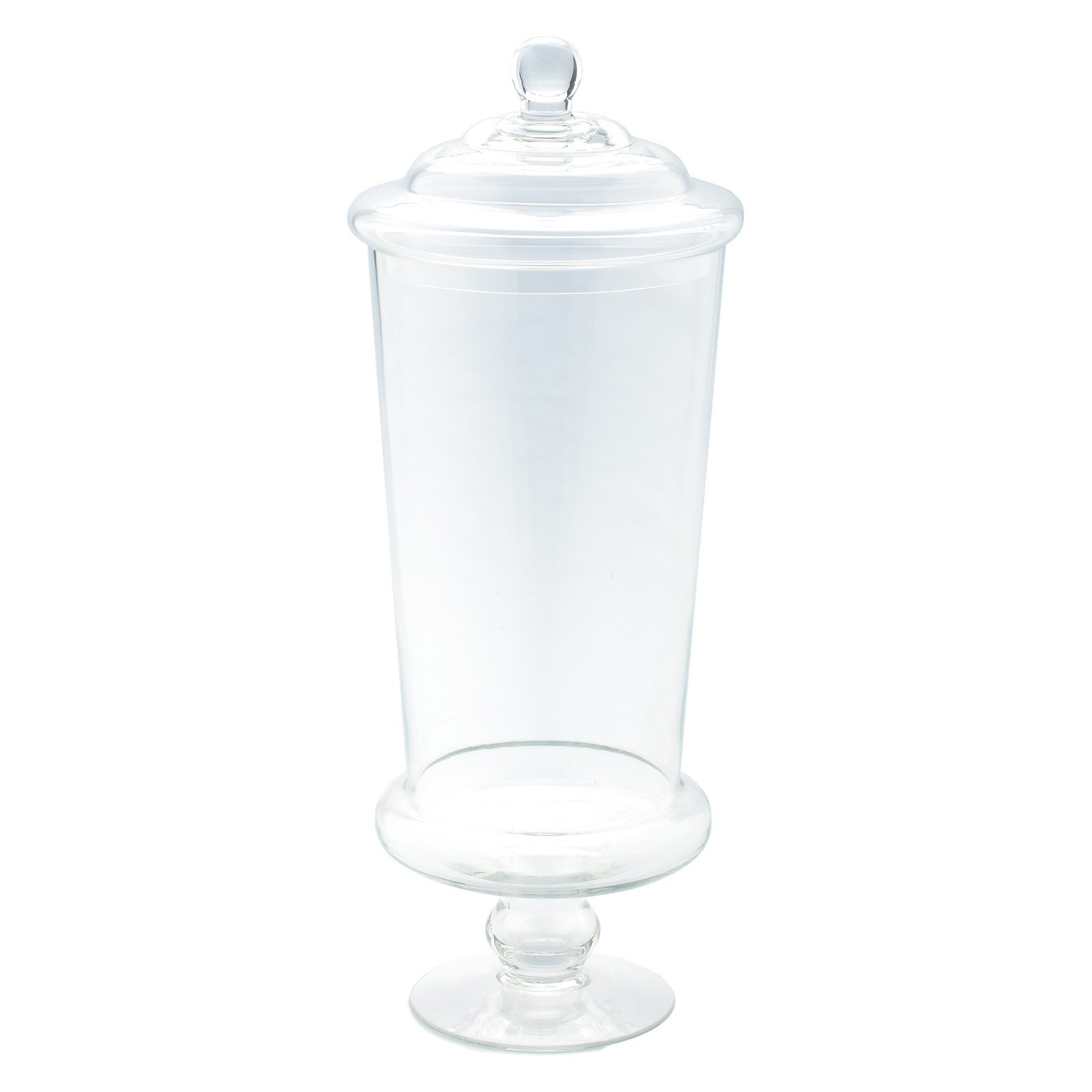 Diamond Star Glass Apothecary Jar with Stand and Lid