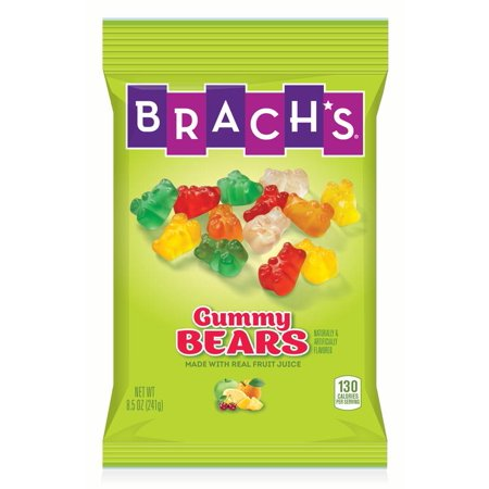Yummy Earth Halloween Gummy Bears (Brach's, Assorted Flavored Gummy Bears Candy,)