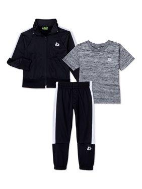 RBX Boys Tricot Track Jacket, T-Shirt, Joggers Performance Set, 3-Piece, Sizes 4-12