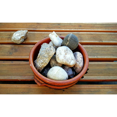 Framed Art for Your Wall Nature Rocks Zen Natural Stones 10x13 Frame